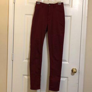 FashionNova Burgundy High Waisted Pants Size 9